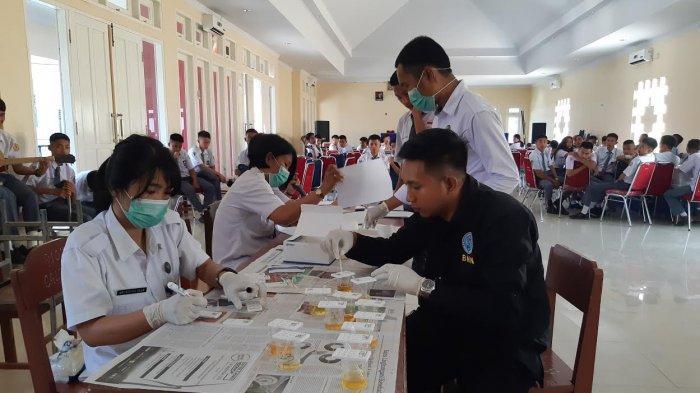 173 Siswa Ikuti Tes Urine BNNK Tana Toraja, Ada Positif?