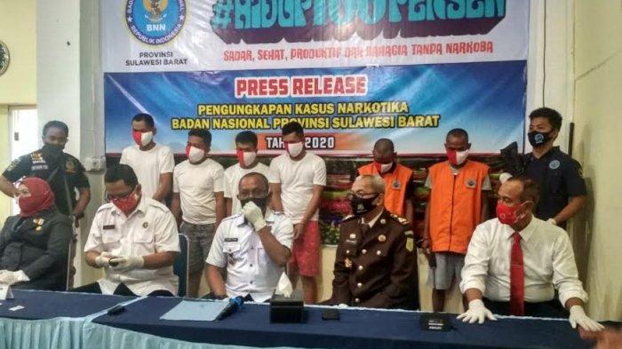 Bongkar Jaringan Peredaran Narkoba, BNNP Sulbar Tangkap 6 Pelaku, Sita 250 Sabu