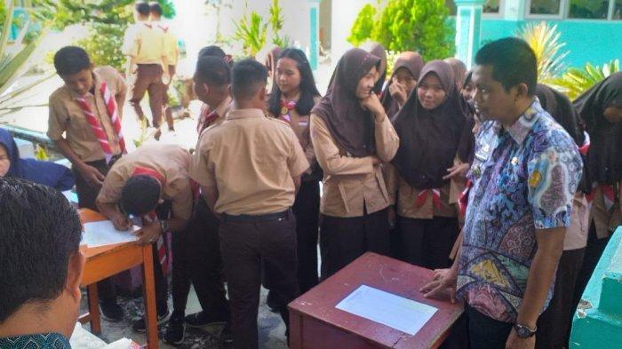 Dikunjungi BNN, Ratusan Siswa SMAN 2 Sidrap Ikut Tes Urine