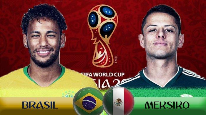Live Trans TV! Nonton Live Streaming Brasil vs Mexico di HP: Siapa Lolos Perempat Final?