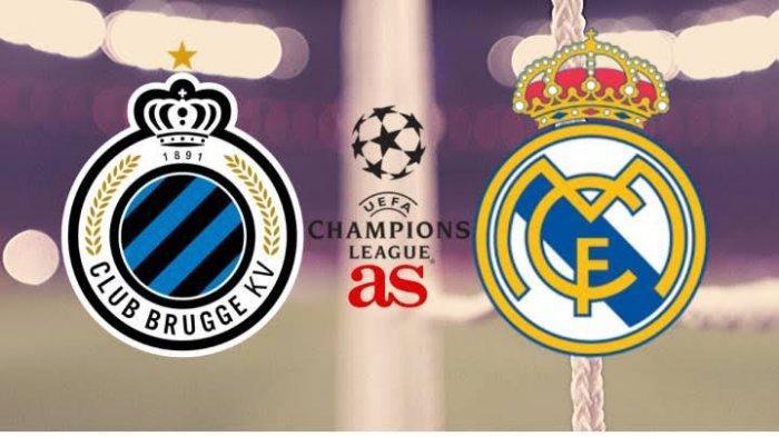 Link Live Streaming TV Online Vidio.com Club Brugge vs Real Madrid di Liga Champions, Nonton di HP