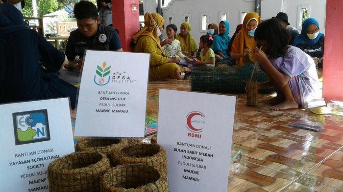 Masa Pemulihan Pascagempa Sulbar, Tim BSMI Sulsel Lakukan Pemberdayaan Masyarakat dengan Kerajinan