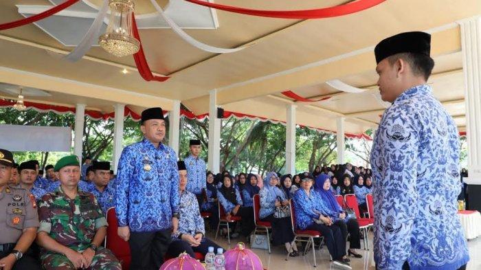 Bupati Ilham Azikin Irup Peringatan HUT Korpri ke 48 di Bantaeng, Ini Pesannya