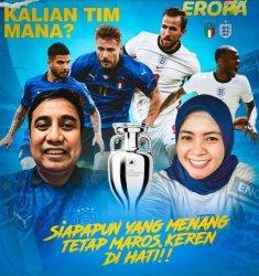 Tak Kompak, Suhartina Bohari dan Chaidir Syam Beda Pilihan di EURO 2020
