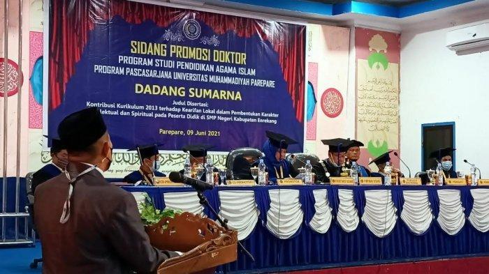 Hadiri Promosi Doktor Dadang Sumarna, Muslimin Bando Dukung ASN Enrekang Lanjutkan Studi