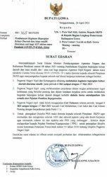 Ada Surat Edaran, ASN di Gowa Dilarang Cuti Lebaran