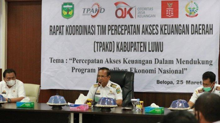 Bupati Luwu Rapat TPAKD Dukung Program Pemulihan Ekonomi Nasional