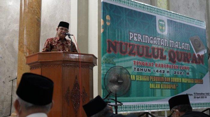 Peringati Nuzulul Quran, Bupati Luwu Ajak Umat Islam Memasyarakatkan Alquran