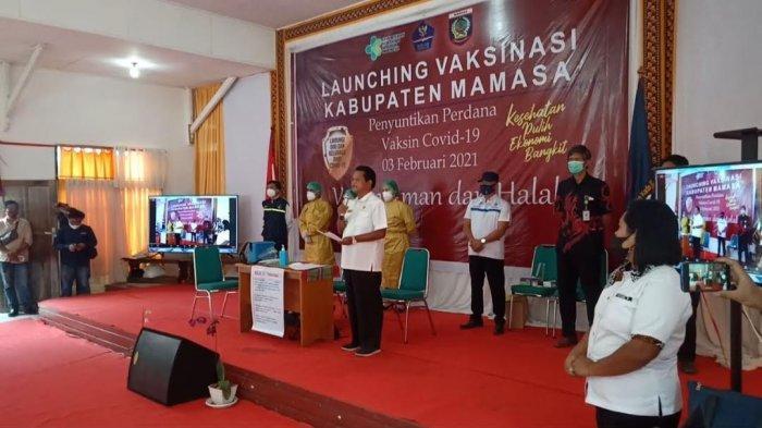 Vaksin Perdana di Mamasa, Bupati Imbau Warga Tak Khawatir