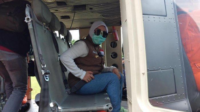 Pakai Helikopter TNI AD, Bupati Mamuju Tinjau Kondisi Desa Bela-Kopeang yang Masih Terisolir