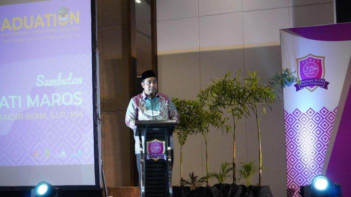 Bupati Maros Hadiri Wisuda Akbar Sekolah Putri Darul Istiqamah