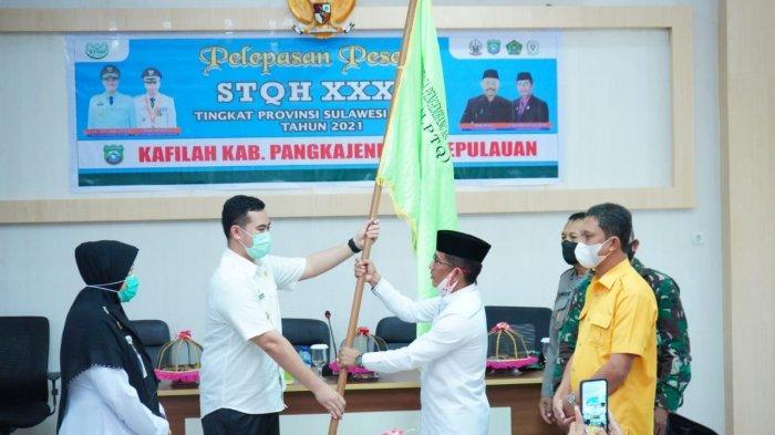 Bupati Pangkep Lepas Kafilah STQH ke Sidrap, Target Juara Umum 3