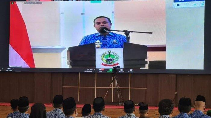 Halalbihalal dengan Plt Gubernur Sulsel Secara Virtual, Bupati Wajo Puji Kinerja Satgas Covid-19