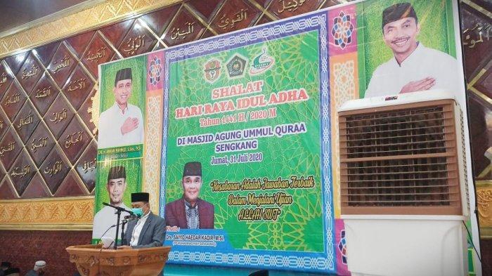 Forkopimda Wajo Salat Id di Masjid Agung Ummul Qura Sengkang