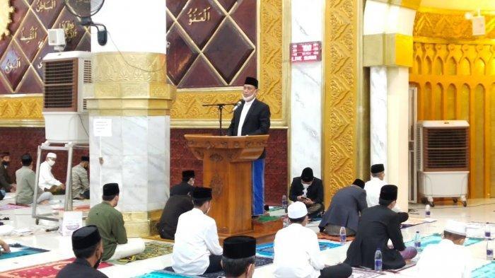 Bupati dan Wakil Bupati Wajo Salat Id di Masjid Agung Ummul Qura Sengkang