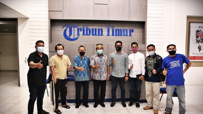Calon Gubernur Kalimantan Utara, Brigjen Pol (Purn) Drs Zainal Arifin Paliwang, mengunjungi kantor redaksi Tribun Timur, Jalan Cendrawasih, Makassar, Kamis (17/12/20).