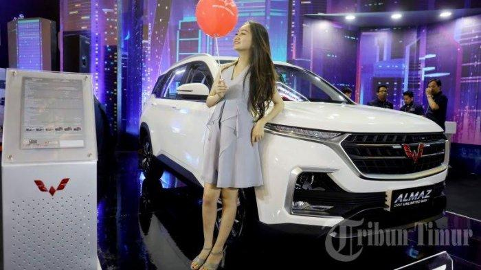 Cantiknya Sales Promotion Girls (SPG) pameran mobil GIIAS Makassar 2019 di Celebes Convention Center, Rabu (11/9/19).