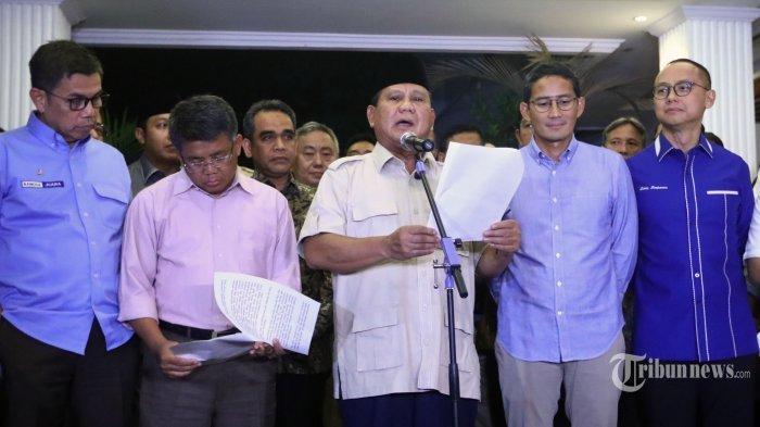 Setelah Putusan Sengketa Pilpres 2019 di MK, Prabowo Beri Sinyal soal Pertemuan dengan Jokowi