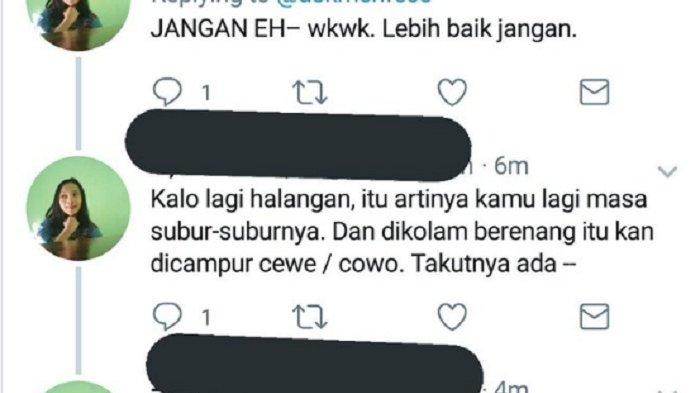 Sebut Wanita Haid Dapat Hamil Saat Renang karena Sperma Lewat Pori-pori, Orang Ini Dibully Netizen