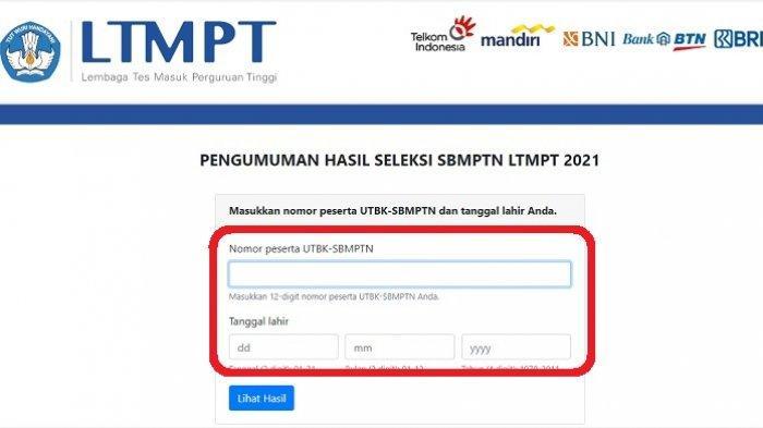 Cara Cek Hasil SBMPTN LTMPT 2021 di Link http://pengumuman-sbmptn.ltmpt.ac.id dan 30 Laman Mirror
