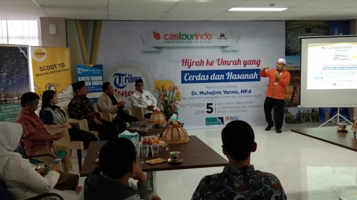 Tribun Nongki Bersama Castourindo Bahas Umrah Cerdas dan Hasanah