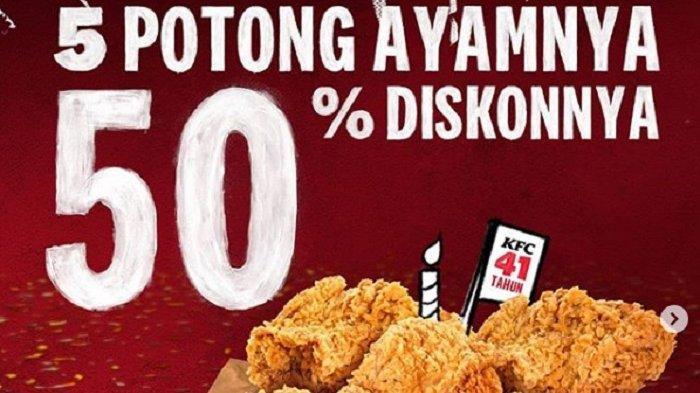 Promo KFC Indonesia Berlaku Hingga 21 Oktober 2020, Beli 5 Ayam Harga Cuma Setengah Bisa Gojek-Grab