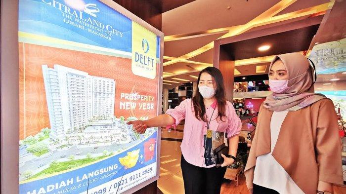 CitraLand City Losari Makassar menggelar pameran Delft Apartment di Corridor Trans Square, Trans Studio Mall Makassar, Senin (1522021). Dapatkan hadiah langsung berupa Logam Mulia dan Lucky Angpao menyambut perayaan tahun baru Imlek.
