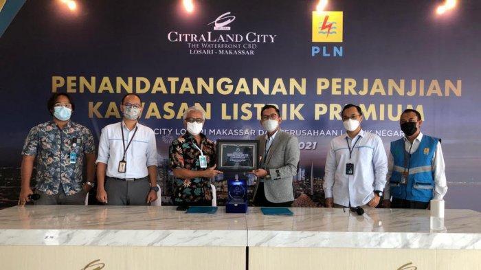 CitraLand City Losari Makassar dan PLN Teken Perjanjian Kawasan Listrik Premium