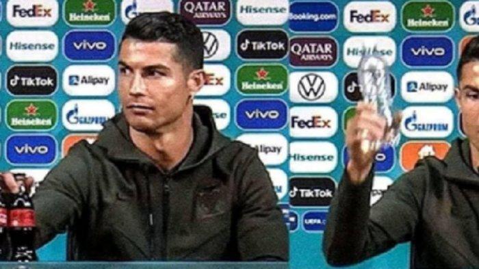 Coca Cola Viral Perusahaan AS Itu Rugi Triliunan Rupiah Karena Kapten Portugal Ronaldo Jumpa Pers
