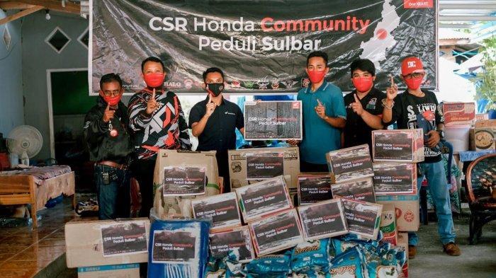 Peduli Sulbar, Komunitas Honda Satu Hati Salurkan Bantuan