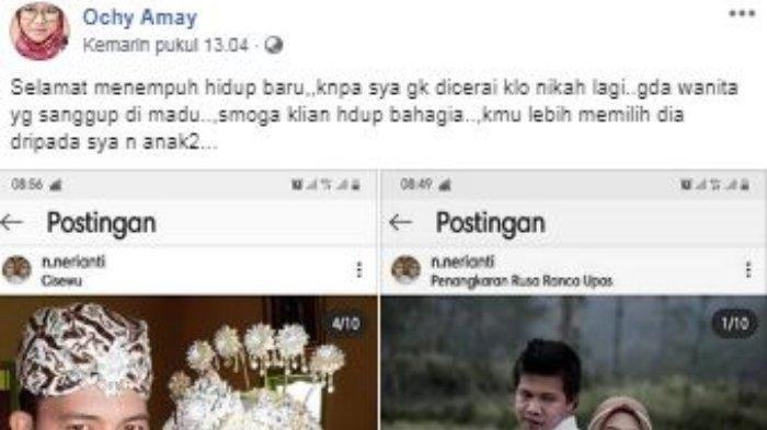 Curhat Pilu Ochy Amay Dapati Suami Nikah Lagi, Istri Muda Pamer di IG, Wajah Suami Dicela Netizen