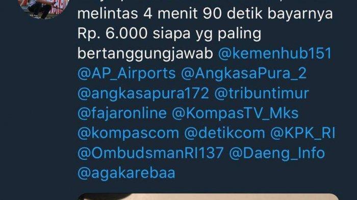 Parkir di Bandara Makassar Termahal di Indonesia; 4,9 Menit Bayar Rp 6000 - curhat_parkir_bandara_shiam_20180815_051401.jpg