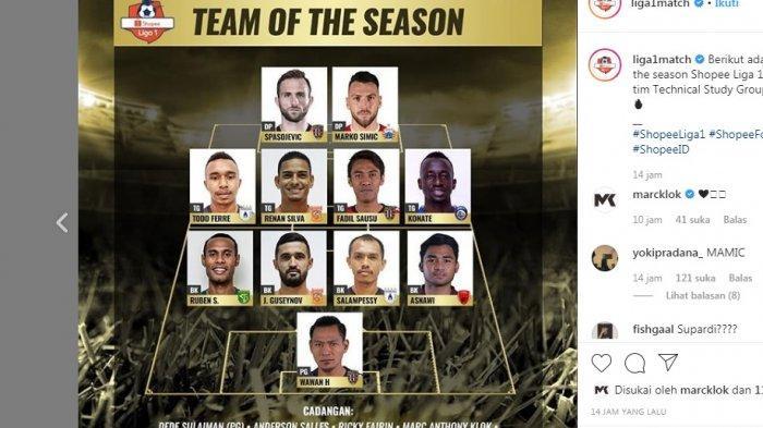 11 Pemain Terbaik Liga 1 2019 - Bali United, Persebaya, PSM, Persija, Arema FC, Borneo FC! Persib?