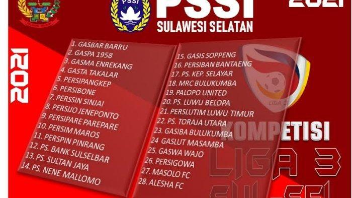 Liga 3 Zona Sulsel Bergulir 1 November, Sudah 28 Klub Mendaftar