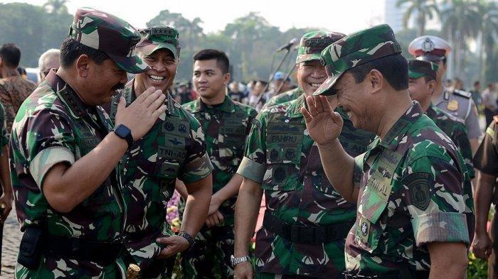 DAFTAR 75 Perwira Tinggi TNI Dimutasi Panglima TNI Marsekal Hadi Tjahjanto: 26 AD, 18AL dan 31 AU