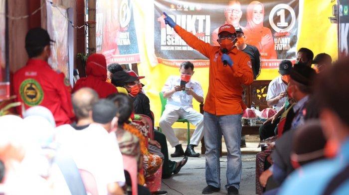 Danny Serasa Bernostalgia Masuki Lorong di Jl Sunu Saat Kampanye Dialogis