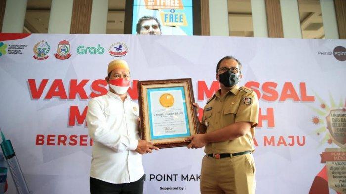 Festival Smart Vaksinasi Makassar Cetak Rekor Terbanyak di Indonesia, Dapat Penghargaan dari LEPRID