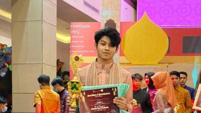 Dave, Siswa SMKN 2 Makassar Raih Juara 1 Tren Busana Muslim Sulsel 2021