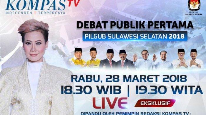 LIVE STREAMING KOMPAS TV: Debat Kandidat Gubernur Sulsel, Aksi Rosiana Silalahi Tak Kalah Dinanti