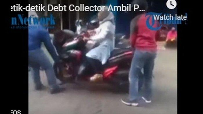 VIDEO Viral Ibu Ini Tak Mau Turun Meski Motornya Diangkat 3 Debt Collector