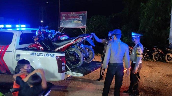 Patroli Kamtibmas, Polisi Amankan 8 Motor Warga Pasangkayu