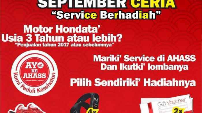September Ceria, Servis Motor di AHASS Banjir Hadiah