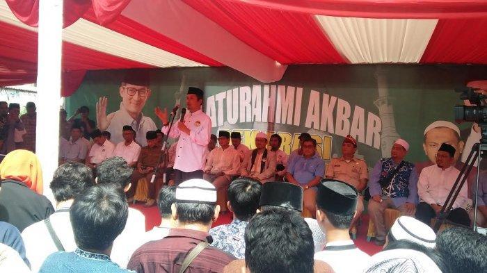 Pentolan 212 Tabligh Akbar Bareng Sandiaga Salahuddin Uno di Makassar