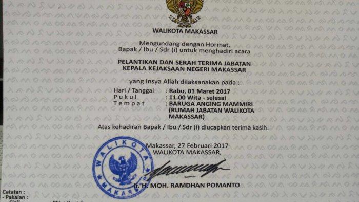 Ini Kata Danny Pomanto, Soal Pelantikan Kajari Makassar di Rujabnya