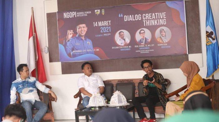 Dialog Creatif Thinking, Youtuber Ridjal Djamal Ajak Pemuda Bantaeng Berani 'Lawan Arus'