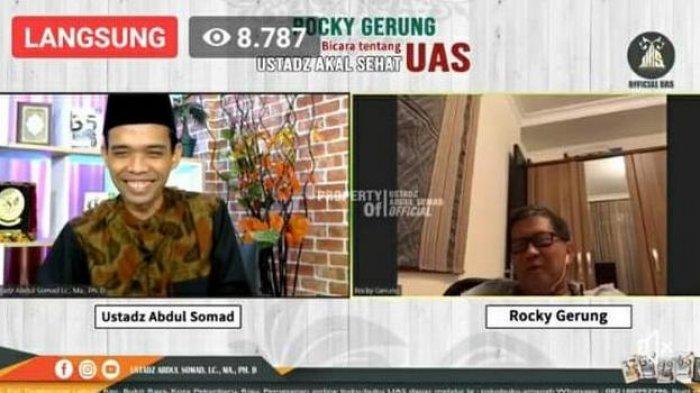 Apa Maksudnya? UAS Tanya Alasan Rocky Gerung Berani Kritik Pemerintahan Jokowi Tanpa Rasa Takut