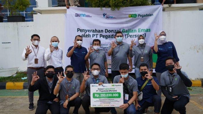 Pegadaian-Yayasan BUMN Salurkan Rp 293 Juta Donasi Nasabah ke Sulbar
