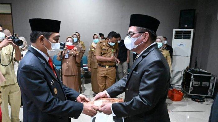 Ns Basra Jabat Kadis Kesehatan dan Ibrahim SP Kepala Dinas Tanaman Pangan Sidrap