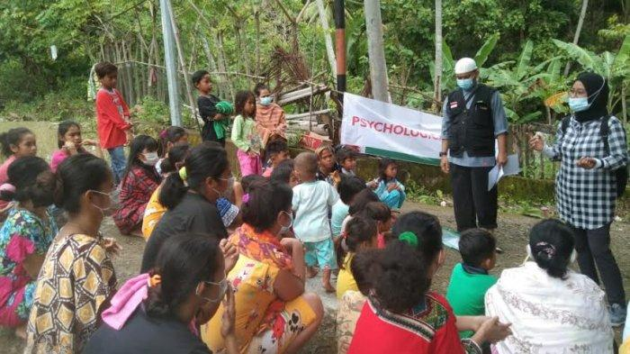 Aksi Psychological First Aid Dampingi Penyintas Gempa Sulbar