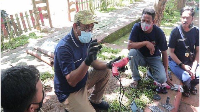 Dosen Teknik Mesin PNUP Beri Pelatihan Bengkel Las Listrik ke Anggota Karang Taruna Desa Massamaturu